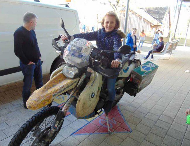 Martin Brucker erzählt von seiner Weltreise auf dem Motorrad, März 2020